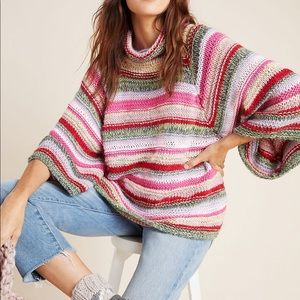 Anthropologie Candice Bell-Sleeved Sweater M/L